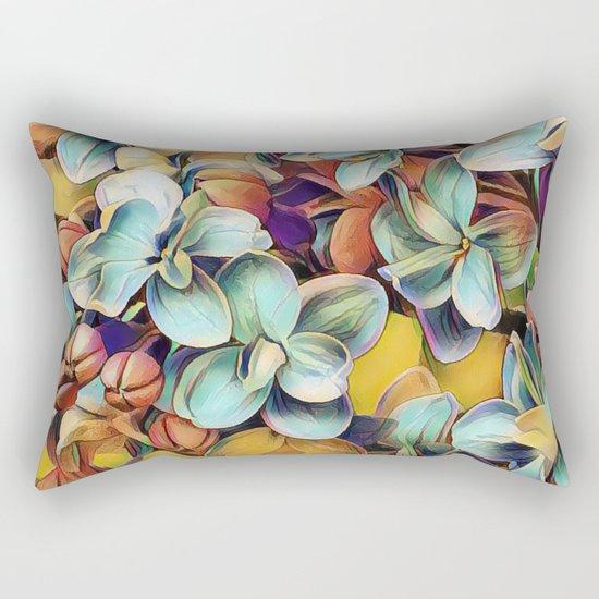 Painted Lilacs Rectangular Pillow