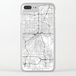 St Paul Map White Clear iPhone Case