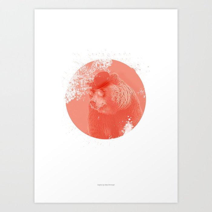 Stylish Bear Art Print