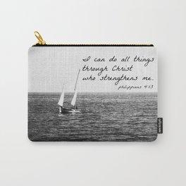Philippians 4:13 Christ Carry-All Pouch