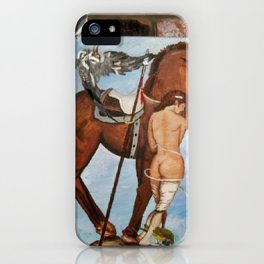 Professor Harvard on the Family painting by Jes Fuhrmann  iPhone Case