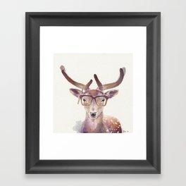 Study Deer Framed Art Print