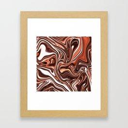 Liquid Golden Marble 011 Framed Art Print