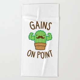 Gains On Point (Cactus Pun) Beach Towel