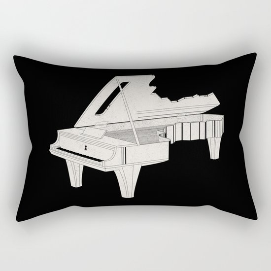 Music Is The Key. Rectangular Pillow
