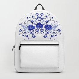 Three blue roses Backpack