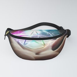 Magickal flaming pentacle Fanny Pack