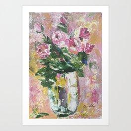 Pallette Roses Art Print