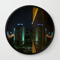 seoul Wall Clocks featuring Seoul Reflection by Anthony M. Davis