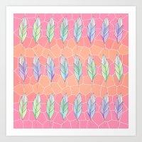 Mosaic Leaf Pattern 2 Art Print