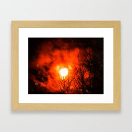 Burning Moon Framed Art Print