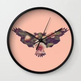 American Pink Vintage Owl Wall Clock