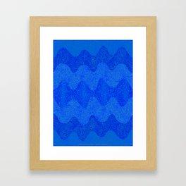 Under the Influence (Marimekko Curves) Feeling Blue Framed Art Print