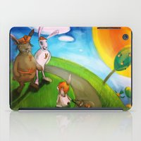 rabbits iPad Cases featuring Rabbits by András Balogh