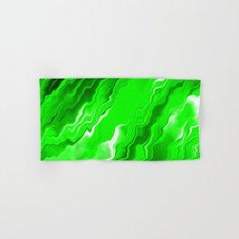 Fluid Abstract Art - Green Storm - Oil painting Hand & Bath Towel