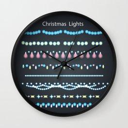 Cristmas Lights Wall Clock