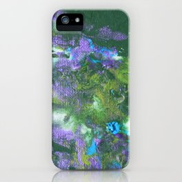 Abstract Wildflower Field iPhone Case