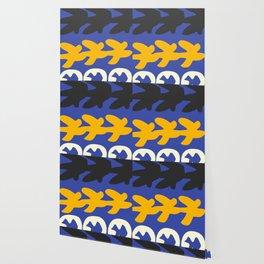 Digital Gouaches Découpées Wallpaper