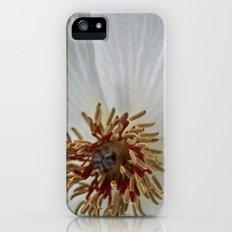 White Satin  Slim Case iPhone (5, 5s)