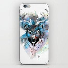 Deer- Blue iPhone Skin