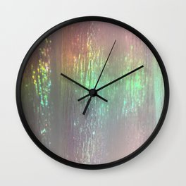 sheer rainbows Wall Clock