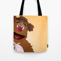 muppets Tote Bags featuring Fozzie - Muppets Collection by Bryan Vogel