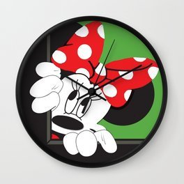 Minnie Mouse No. 8 Wall Clock