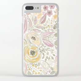 Watercolor . Flower meadow . 1 Clear iPhone Case