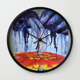 Bee and Flower Wall Clock