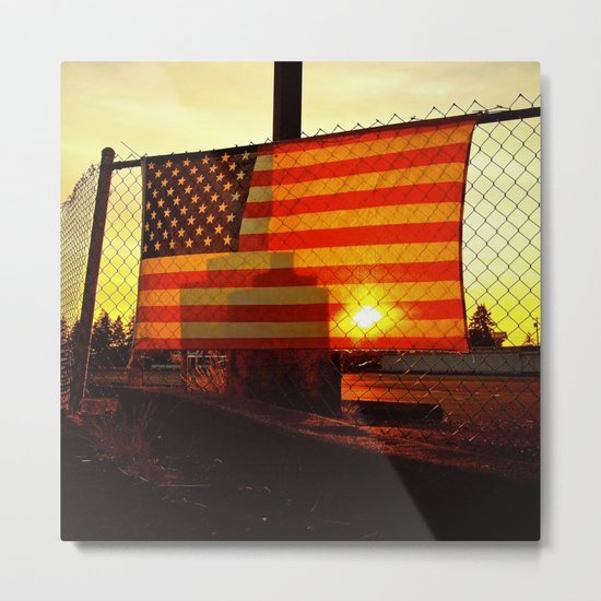America's sunset Metal Print