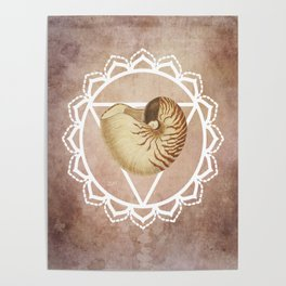Shell Chakra Red Poster