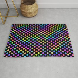 Rainbow Polka Dot Pattern Rug