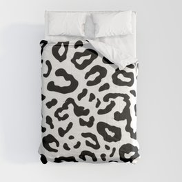 Black and White Leopard Print Comforters