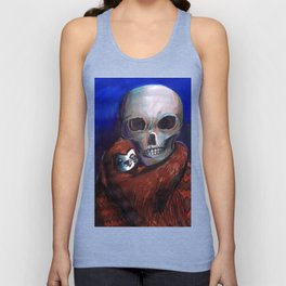 skull and alien Unisex Tank Top