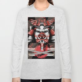 Samurai Flag Long Sleeve T-shirt