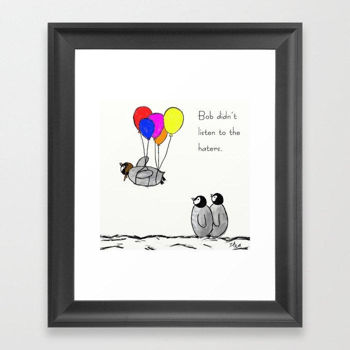 To be a Flying Penguin Gerahmter Kunstdruck