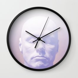 Thoughts purple Wall Clock