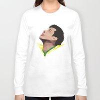 neymar Long Sleeve T-shirts featuring Neymar Junior Brazil by CurrentFootball