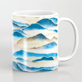 Textured Mountains  Coffee Mug