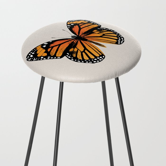 Monarch Butterfly   Vintage Butterfly   Counter Stool