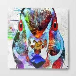Wood Duck Grunge Metal Print