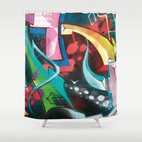 cosmos Shower Curtains featuring Cosmos by Geronimo Studio