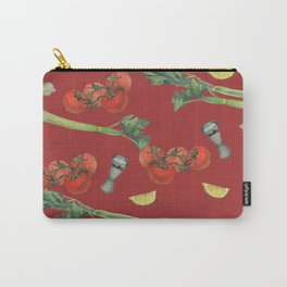 cocktail recipe pattern_ bloody mary Carry-All Pouch