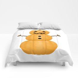 Pumpkin Snowman Comforters