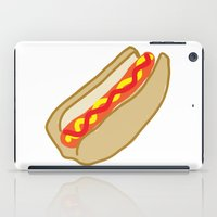 hot dog iPad Cases featuring Hot Dog by Andrew Lynne