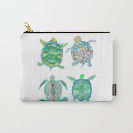 The four green turtles Carry-All Pouch