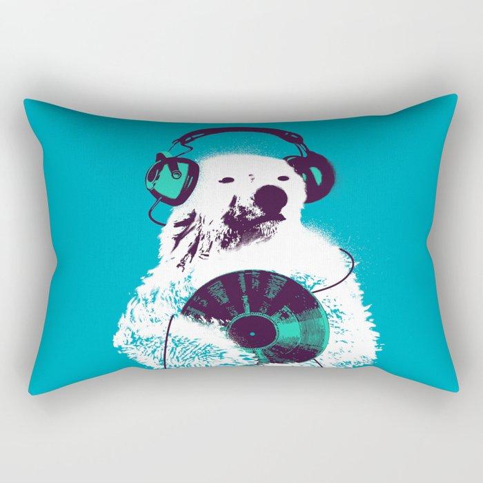 Record Bear Rectangular Pillow