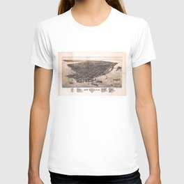 Bird's Eye View of Key West, Florida (1884) T-shirt