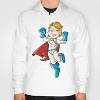 girl power Hoodies featuring Power Girl! by neicosta