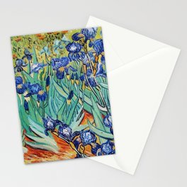 Irises Painting by Vincent van Gogh Stationery Cards
